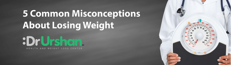 Misconceptions about losing weight